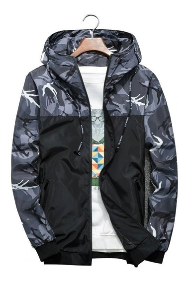 Jaqueta Corta Vento Camuflada Masculina Casaco Blusao Moda