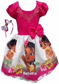 Vestido Moana Baby + Tiara Brinde