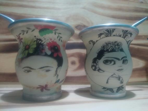 Set Matero Frida Kahlo - Mate De Frida + Pava