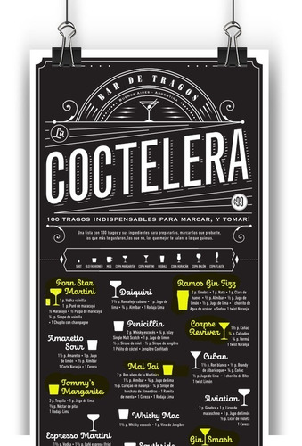 Poster Coctelera