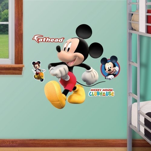 Imagen 1 de 1 de Fathead Mickey Mouse Jr. Decoracion Grafica De La Pared
