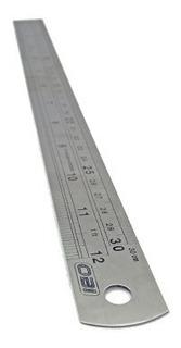 Regla Acero Graduación Milimétrica Y Estandar 12 Y 25 Mm