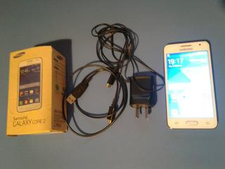 Celular Liberado Samsung Galaxy Core 2 Cable Usb Y Cargador