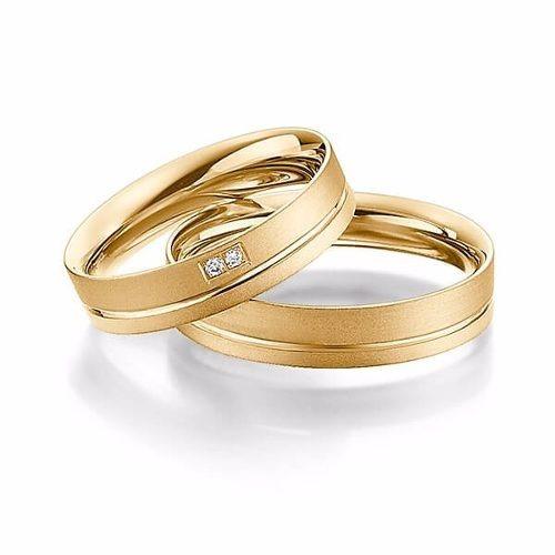 Par Aliança Compromisso 4mm Casamento Noivado Ouro 18k Luxo