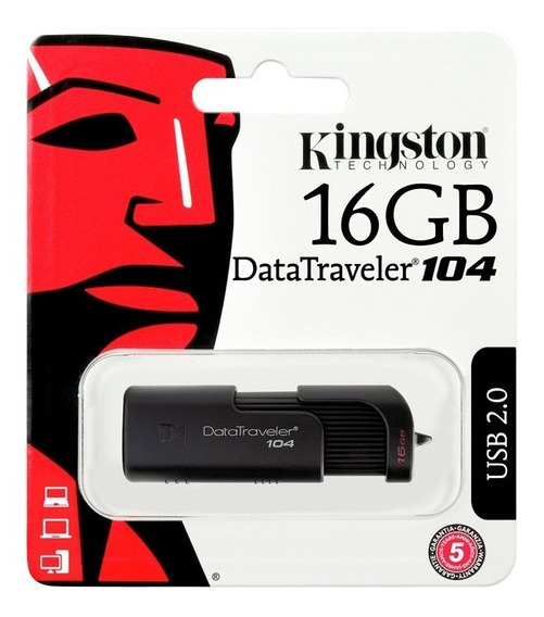 Kingston Memorias Usb 16gb 2.0 Dt104 Mayoreo Ligera Nueva +