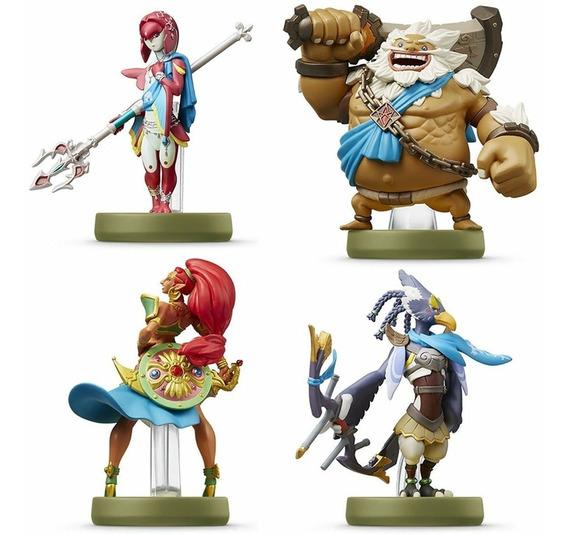 Amiibo Champions Legend Of Zelda Mipha Daruk Urbosa Revali