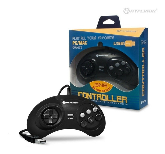 Controle Gn6 Usb Modelo Gêneis Mega Drive Hyperkin