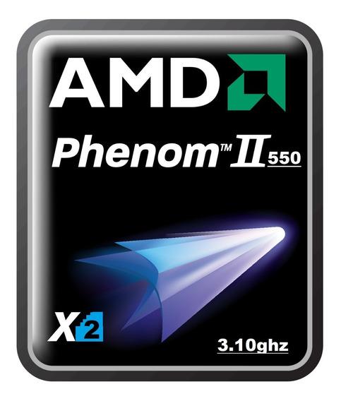 02 Processador Phenom Athlon Ii X2 550 3.1ghz Am2/am3 +pasta
