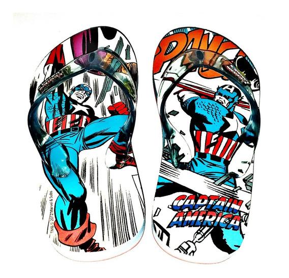 Ojotas Capitan America Marvel Comics Originales Fty Calzados