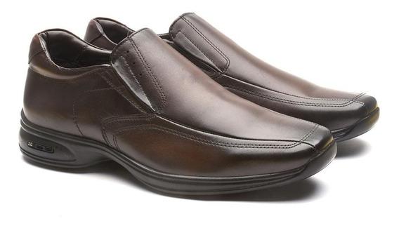 Sapato Masculino Em Couro Legítimo Jota Pe 3d Air