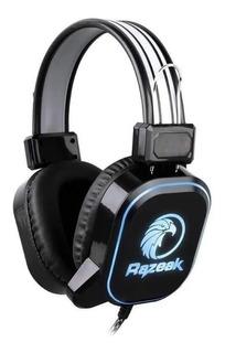 Auricular Razeak Gamer Con Micrófono Para Ps4 Pc Y Consolas