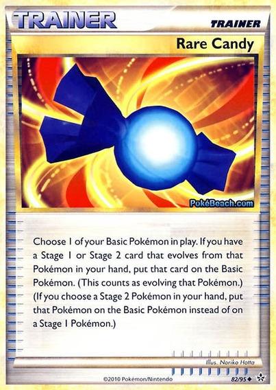 Carta Pokémon Tcg Item Rare Candy Doce Raro - Original