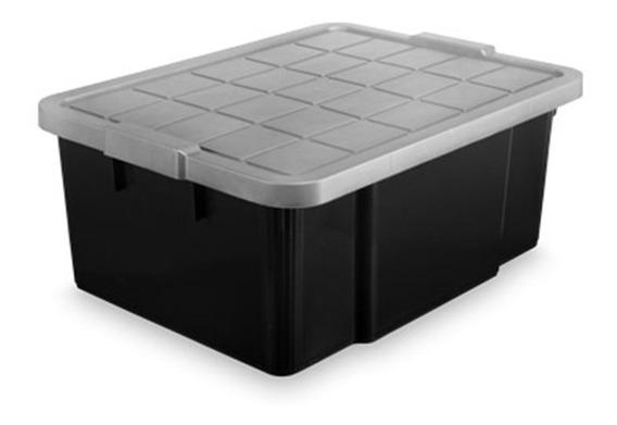 Container Caixa Organizadora Com Tampa 40 Litros Multiuso Pa
