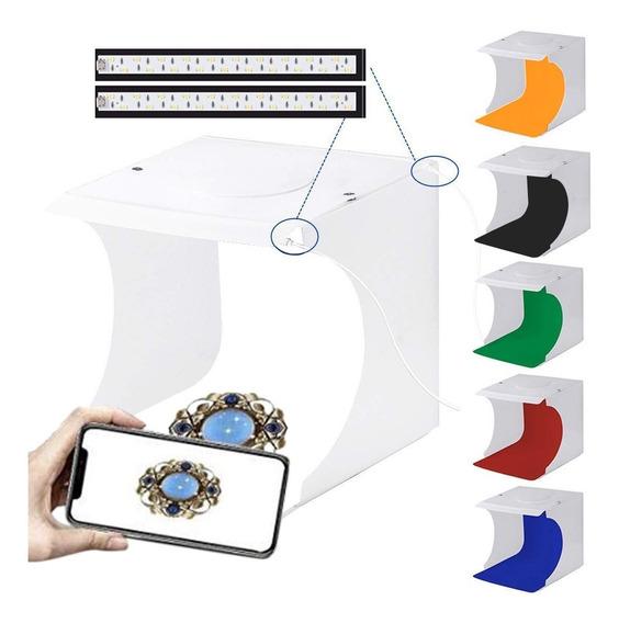 Caja De Luz Puluz Usb Con 40 Luces Led De 6 Colores