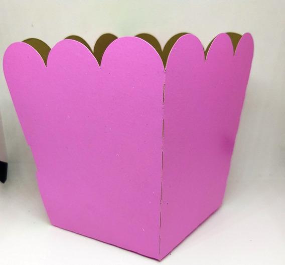 Caja Para Pochoclos Colores Lisos Pack X 10 Unidades