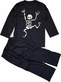 Pijama Infantil Caveira Brilha No Escuro