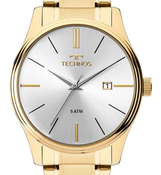 Relógio Technos Dourado Classic Steel 2115mpn/4k + Nf