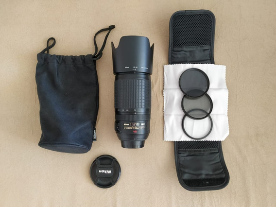 Lente Nikon Af-s Vr Nikkor 70-300mm F/4,5-5,6g + Brinde