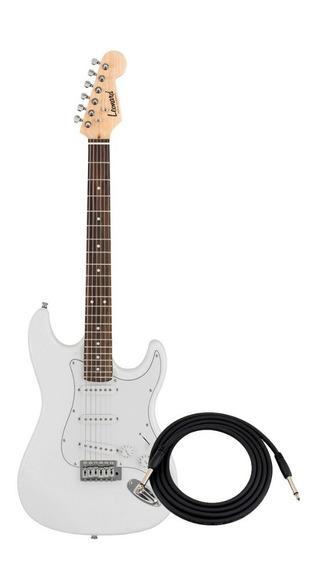 Guitarra Electrica Leonard Le362 Tipo Stratocaster Con Palanca Y Cable Microfonos Sss De 21 Trastes Con Puente Tremolo