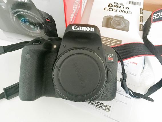 Câmera Canon T7i Corpo + Lente 50mm 1.8
