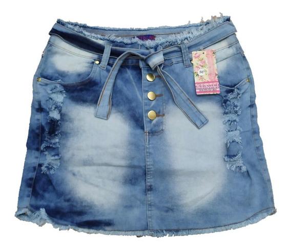 Roupas Plus Size Feminina Saia Jeans 36/54