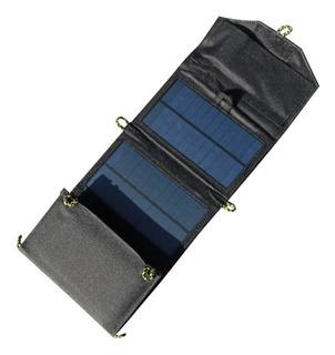 Cargador Solar De Celulares Portátil Plegable Usb 7w Enertik