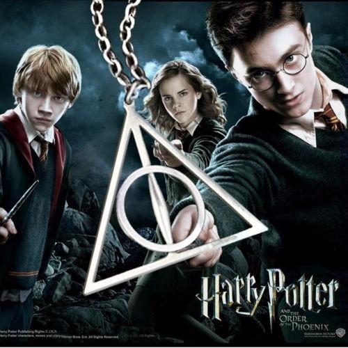 5 Piezas Collar Reliquias Muerte Harry Potter, 3 Colores