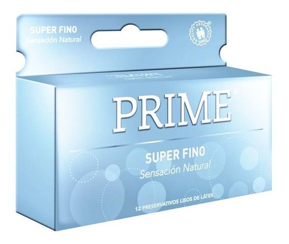 Preservativos Prime Super Fino X12 Unidades Placer Natural