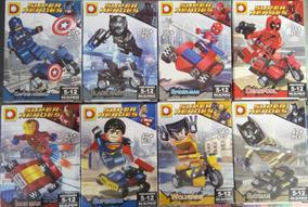 Super Heroes Blocos De Montar 8 Personagens 300 Peças