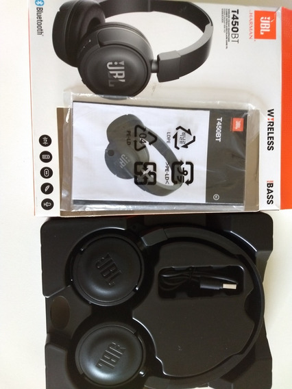 Headphone Fone De Ouvido Bluetooth Jbl T450bt - Preto
