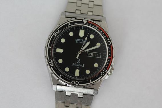 Seiko Sq Quartz Silver Wave Z 7123 8250 Raro Rsc118