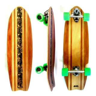 Skate Simulador De Surf Gp Longboard Com Truck De Mola