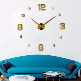 Relógio Parede Casa Grande Sala Escritório Muhsein Dourado