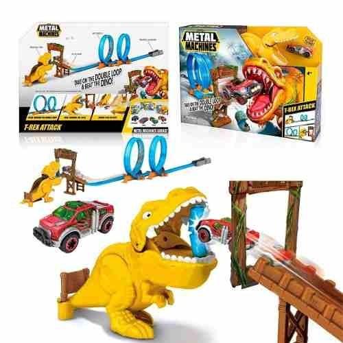 Pista T-rex Attack + Auto Metal Machines Int 6702 Orig Sudam