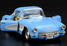 Miniatura Chevrolet Corvette 1957 Kinsmart Fricção