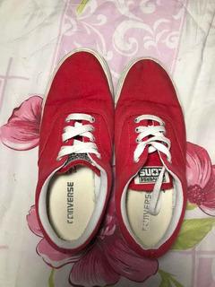Tênis Converse Vermelho Usado 39