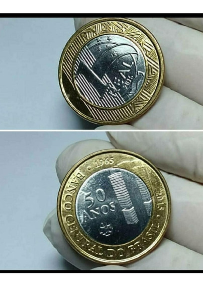 Moeda De 1 Real 50 Anos Banco Central