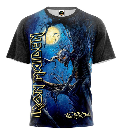 Camiseta Iron Maiden Fear Of The Dark Other Side Camisa