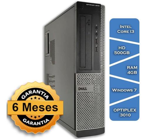 Imagem 1 de 4 de Pc Dell Optiplex 3010 Core I3 3470gº Hd500 4gb Ram Win7 Slim