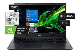 Notebook Acer I5-10210u 8gb. 1tb. 15,6 Nvidia Geforce Mx 23