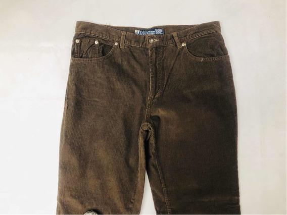 Jeans Hombre Talle 46 Corderoy Marrón C-026 Raw Nuevo