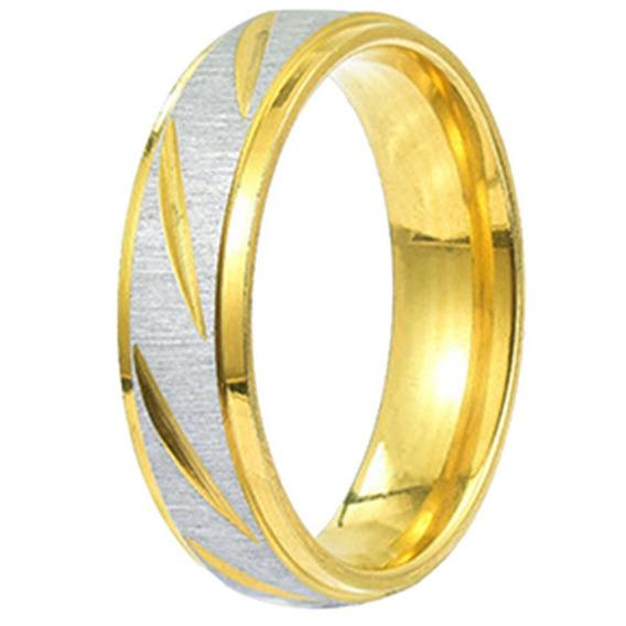 24 Pcs Anéis Aço Aço Polimento Noivado Promessa Casamento Ba