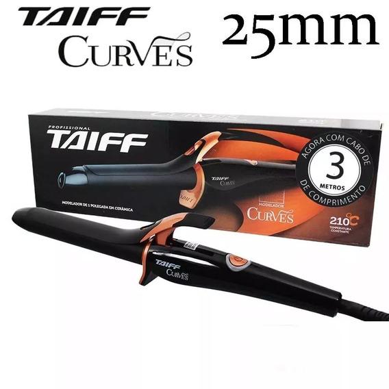 Modelador De Cachos Profissional Taiff Curves Cabo De 3m Bivolt - 25mm 1 Polegada Barril Grosso 210 Graus Promoção