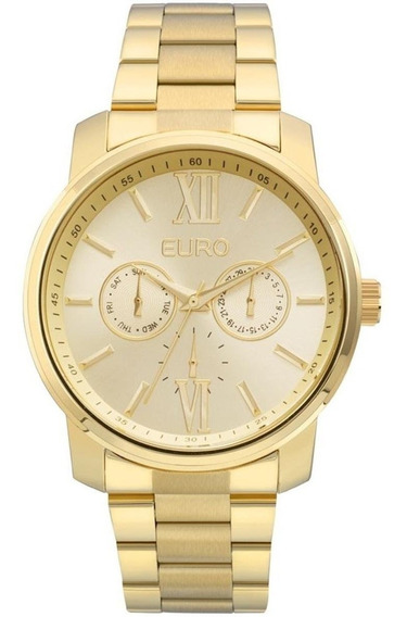 Relógio Euro Metallics Eu6p29agu/4d 43mm Aço Dourado