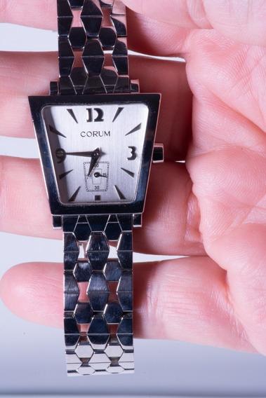 Relógio Corum Trapeze Aço Feminino - Promoção