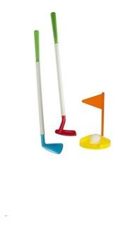 Juego De Golf Golfito Infantil 2 Palos + Hoyo + Pelota