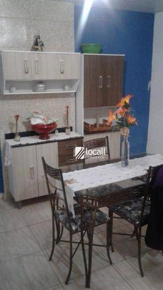 Casa Com 2 Dormitórios Para Alugar, 180 M² Por R$ 800/mês - Parque Residencial Dom Lafaiete Libânio - São José Do Rio Preto/sp - Ca2096