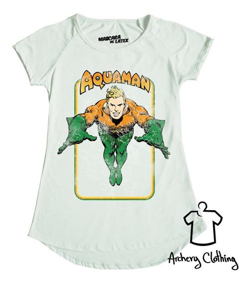 Playera Mujer Aquaman Retro Máscara De Látex Aquaman