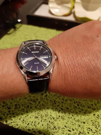 Reloj Seiko Solar Cristal Zafiro