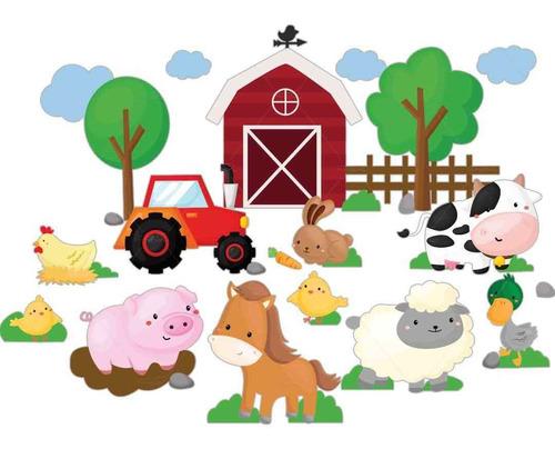 Adesivos Parede Infantil Bebe Animais Fazenda Fazendinha